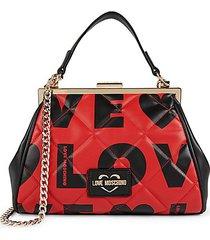 love-print satchel bag