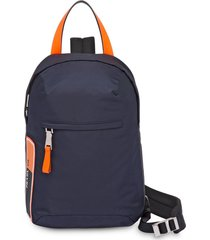 prada nylon one shoulder backpack - blue
