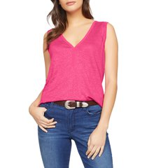 women's sanctuary laura v-neck linen tee
