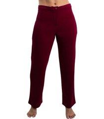 pantalón cómodo con corte de bota recta para mujer