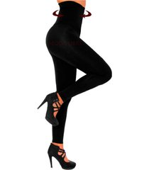 calza negra moda libre térmico modelador faja 22 cm lycrafrizada