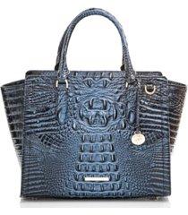 brahmin aubree melbourne embossed leather satchel