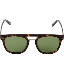 51mm round flat-top sunglasses