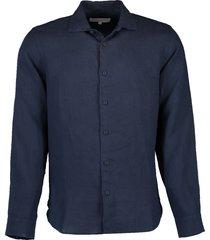 meden linen navy classic-fit shirt