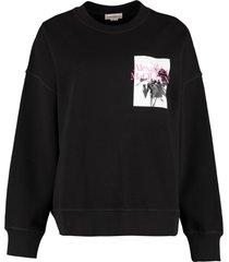 alexander mcqueen oversize cotton sweatshirt