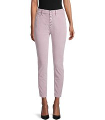 free people women's sun chaser corduroy skinny ankle jeans - frosted lilac - size 30 (8-10)