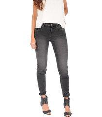 jean super skinny para mujer - gris