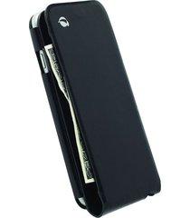 funda krusell para iphone 6s / iphone 6 -kalmar wallet case -negro - cuero genuino
