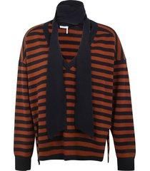 chloé stripe pullover