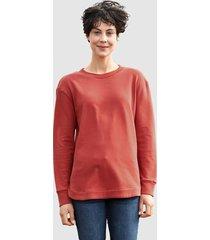sweatshirt dress in terracotta