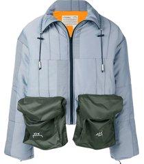 a-cold-wall* oversized pocket padded jacket - grey