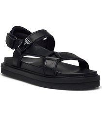 flat sandal karabiner lth shoes summer shoes sandals svart calvin klein