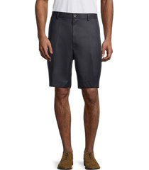 brooks brothers men's flat-front chino shorts - navy - size 42