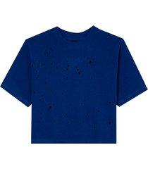 camiseta john john basic blue feminina (azul medio, gg)