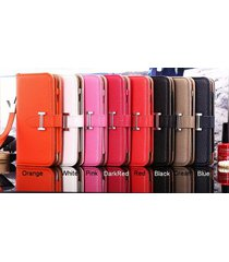 *new h style leather wallet flip case iphone 5/5s/5c/se iphone 6/6s plus