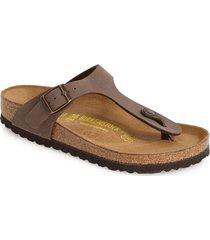 women's birkenstock 'gizeh' birko-flor thong sandal, size 5-5.5us / 36eu d - brown