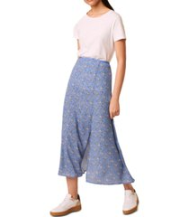 french connection printed a-line skirt