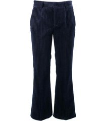 red valentino cotton trousers