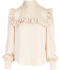 see by chloé l/s shirt w/scarf on neck
