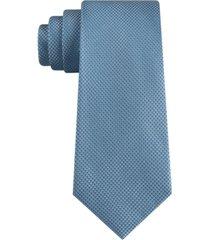 calvin klein men's slim double thread dot grid silk tie