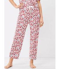loft cherry pajama pants