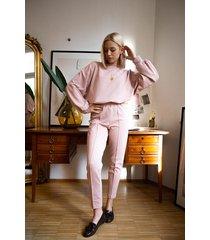 bawełniane spodnie casual mellow rose