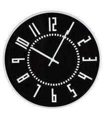 relógio de parede chronus preto e branco