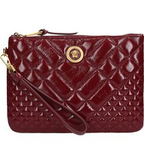 versace clutch in bordeaux leather