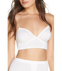 women's kiki de montparnasse intime longline bralette, size x-small - white