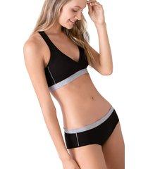 panty en algodón lycra con fajon ref 1205n92l negro options intimate