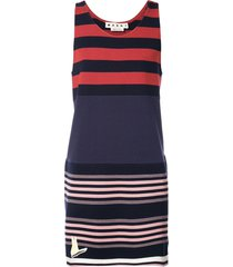 marni striped tank sweatshirt - blue