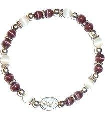stretch alzheimer's awareness bracelet prepackaged (7 3/4 in.) 6mm (uses dark pu