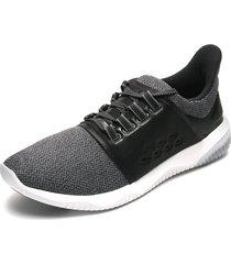 tenis running gris-negro-blanco asics gel-kenun lyte mx