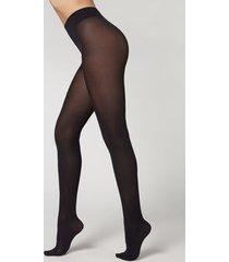 calzedonia eco q-nova 60 denier opaque tights woman black size 1/2
