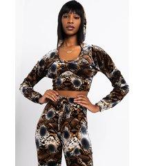 akira queen of luxe velvet snake hoodie