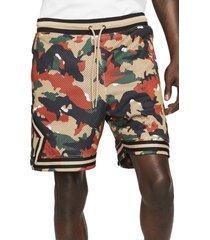 jordan camo diamond mesh athletic shorts, size 3x-large in hemp/black at nordstrom