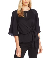 vince camuto women's tie-front keyhole top