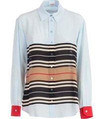 burberry alexia p2w84n112 p86002 shirt l/s w/stripe