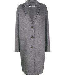 acne studios oversize midi coat - grey