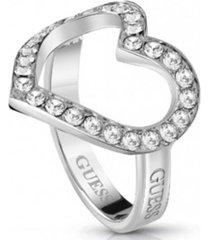 anillo shine on me plateado guess jewellery