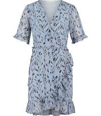 jurk met bloemenprint rosy  blauw