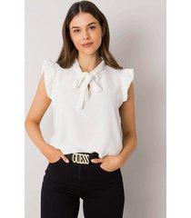 biała bluzka z wiązaniem imelda