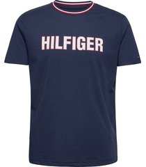 cn ss tee t-shirts short-sleeved blå tommy hilfiger