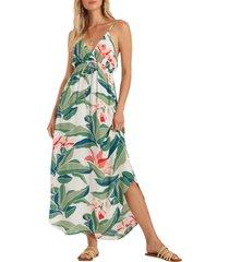 women's billabong like minded curve hem maxi dress, size large - ivory