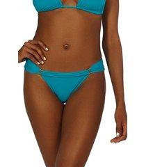 women's vix swimwear bia tube bikini bottoms, size x-small - blue