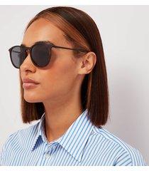 le specs women's oh buoy round polarised sunglasses - matte tort/black