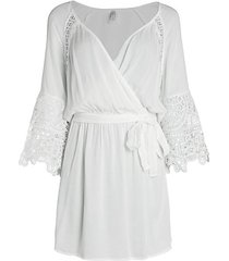 homespun lace eyelet bell-sleeve tunic