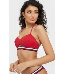tommy hilfiger underwear padded balconette top röd