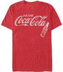 coca-cola men's retro coke bottle short sleeve t-shirt