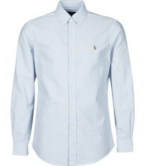 overhemd lange mouw polo ralph lauren chemise ajustee en oxford col boutonne logo pony player multico